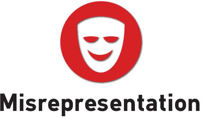 Image result for misrepresentation