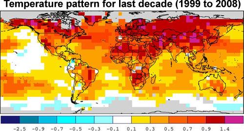 Controverse: réchauffement climatique réalité ou fraude, giec, causes. - Page 4 Temp_Pattern_1999_2008_NOAA