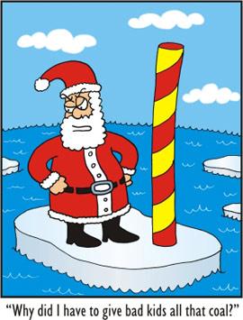 Santa's coal habit