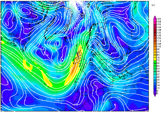 500 hPa winds, 14th April 2013