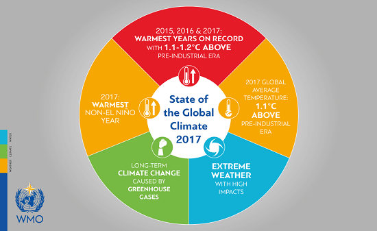 2017 Temperature Infographic WMO