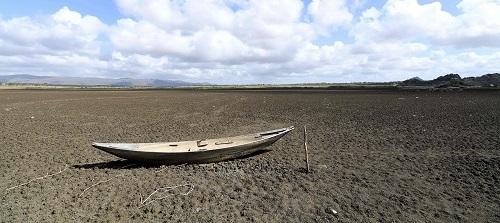 dry Cedro reservoir in Quixadá, Brazil