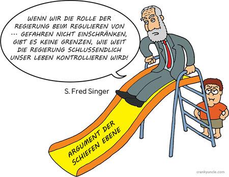 Fred Singer slippery slope