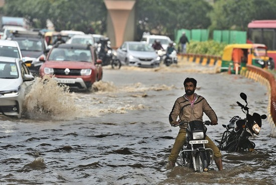 Flooding in New Delhi India