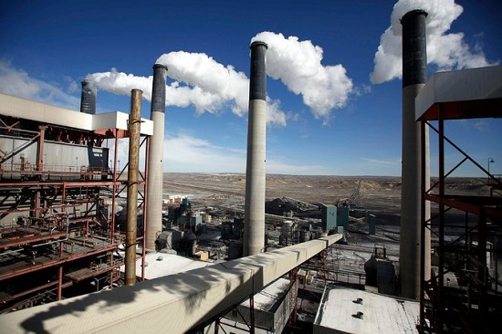 Coal-fired power plant in Wyoming