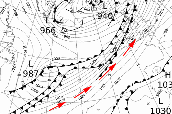 synoptic chart 5th Dec 2015