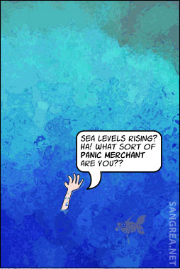 Cartoo about Rising Sea Levels