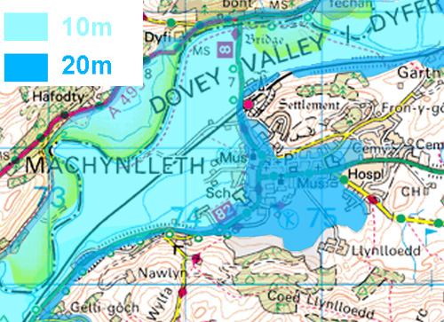 Machynlleth and sea-level rise