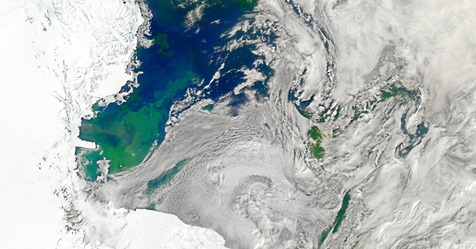 Antarctica via NASA satellite