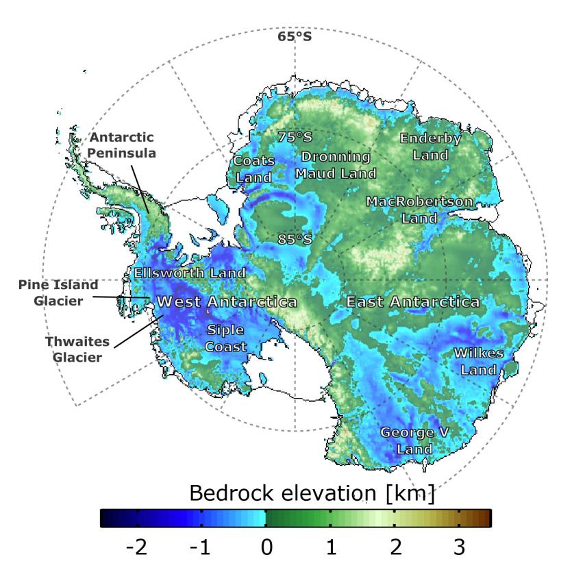 bedrock elevation map