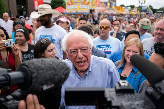 Bernie Sanders campaigns in Iowa Aug 2019