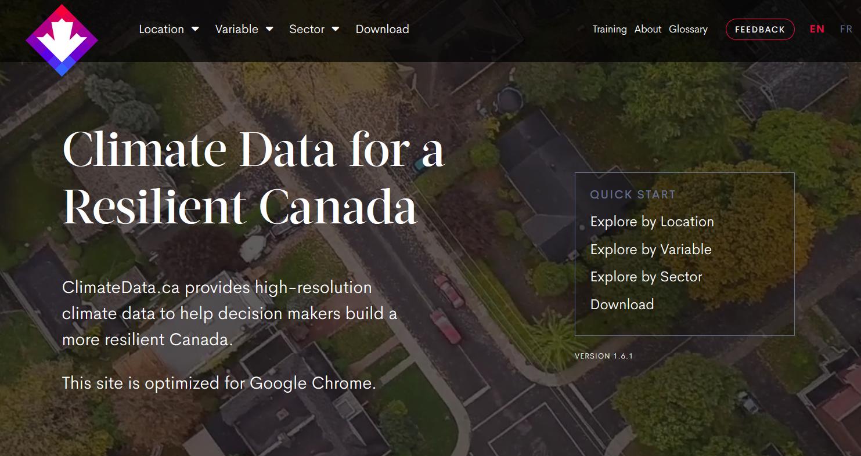 ClimateData Website