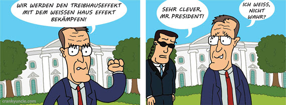 George Bush and the greenhouse effect