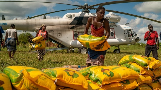 Relief aid after cyclone Idai hit Mozambique in March 2019