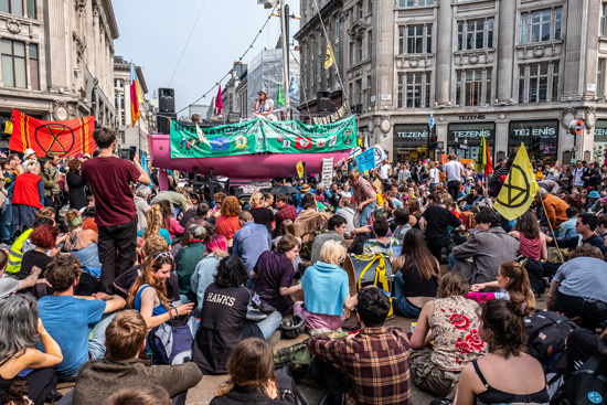 Extinction Rebellion in London, Easter 2019