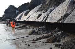 Photo of erosion of Siberian coastline