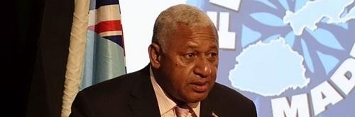 Fijian Prime Minister Voreqe Bainimarama