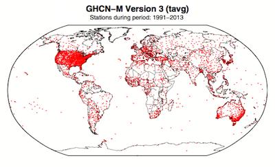 GHCN-M stations