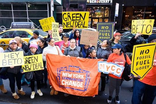 Green New Del Demonstration NY
