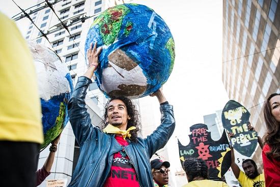 Protestors at Global Climate Action Summit San Francisco Sep 2018