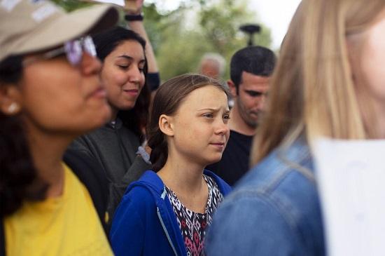 Greta Thunberg in Washington DC on Sep 13, 2019