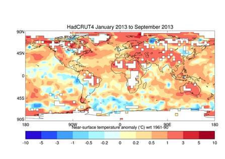 Graphic of Global Temp Anamolies: HadCRUT4_Jan-Sep_2013