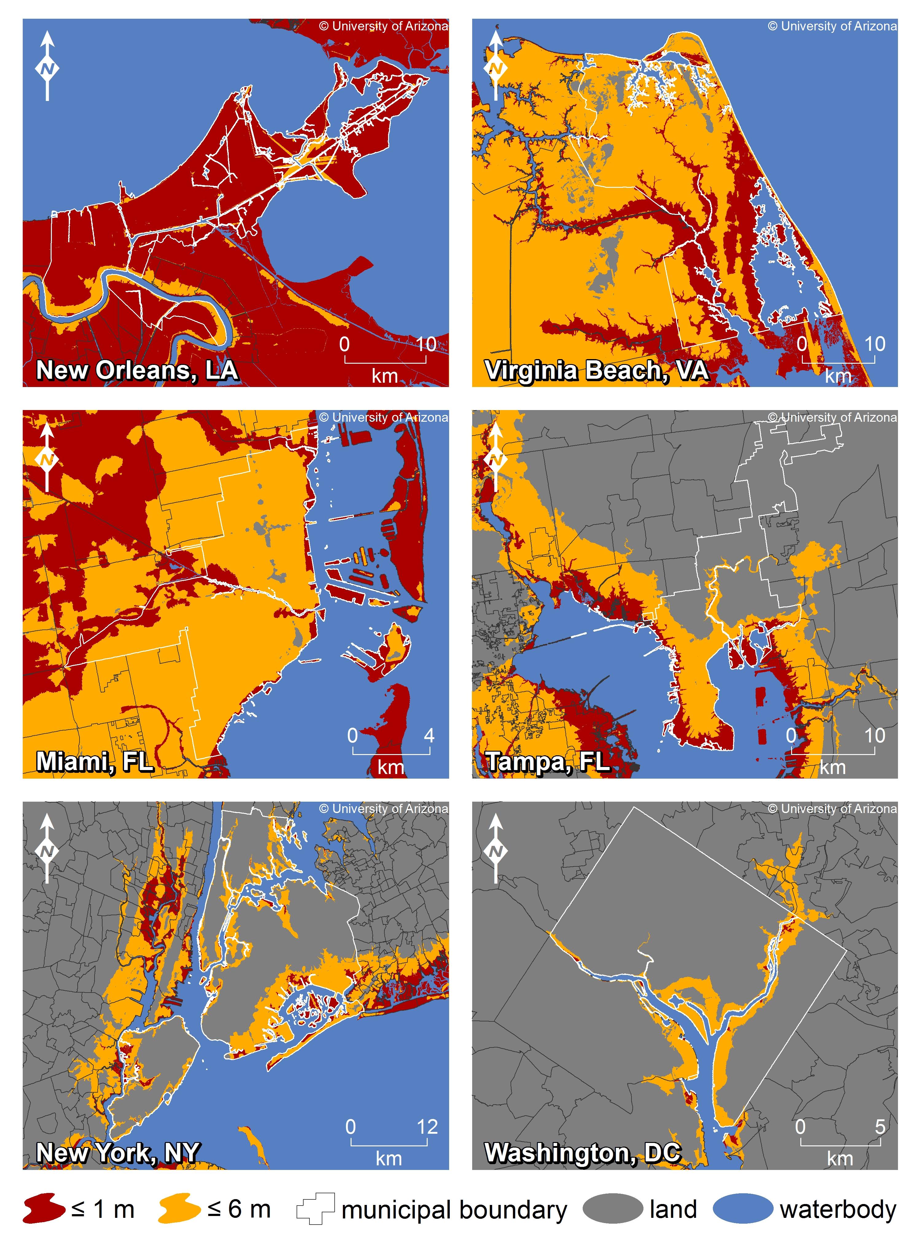 And So Castles Made Of Sand Fall In The Sea Eventually - Louisiana sea level map