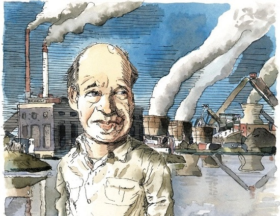 James Hansen: Illustration by John Cuneo