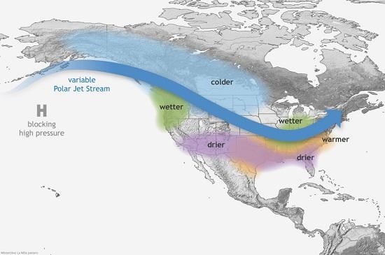 Typical impacts of La Niña on U.S. winter temperature and precipitation