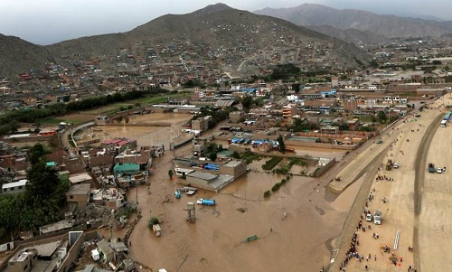 Flooding in Lima, Peru, March 17, 2017