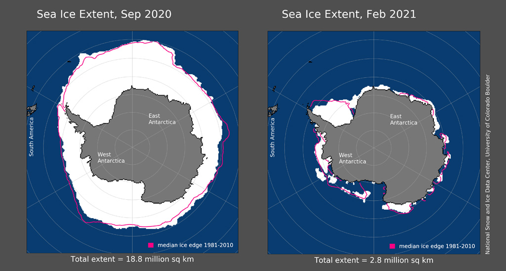 maps of sea ice extent