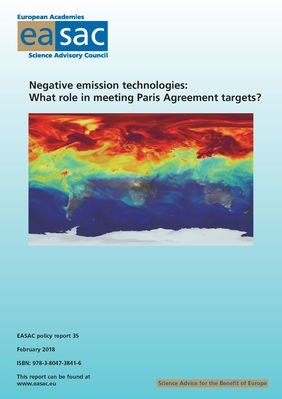 Negative Emissions Technology EASAC Feb 2018