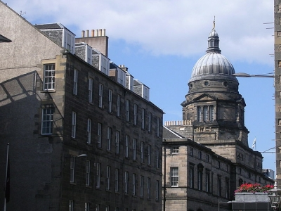 View of Old College, University of Edinburgh.