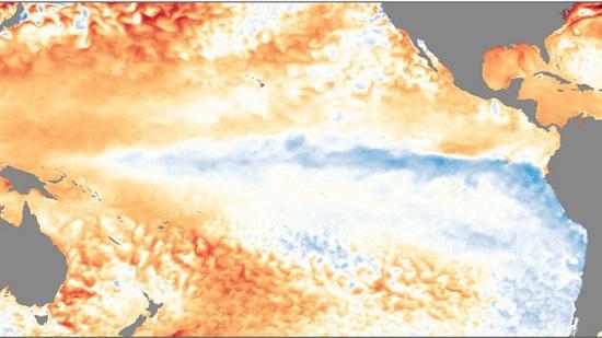 Pacific Sea Surface Temp Nov 2017