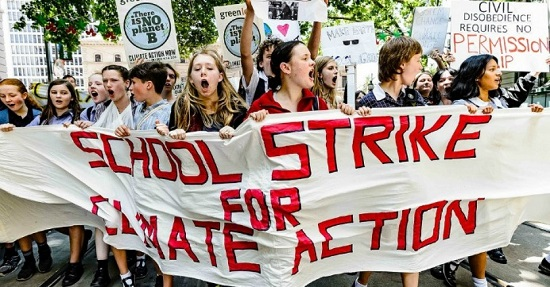 School strike for climate Melbourne 11-30-19
