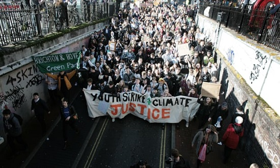 Student Rally in Brighton, UK