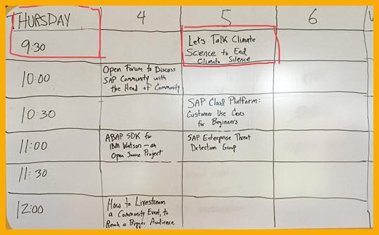 Unconference Schedule