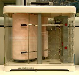 Photo of a  thermo-hygrograph