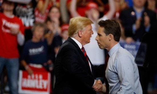 Trump  & Sen Hawley