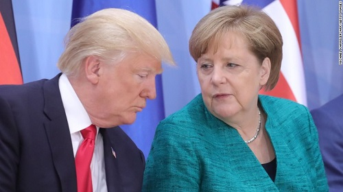 Trump & Merkel G20 Hamburg July 8 2017