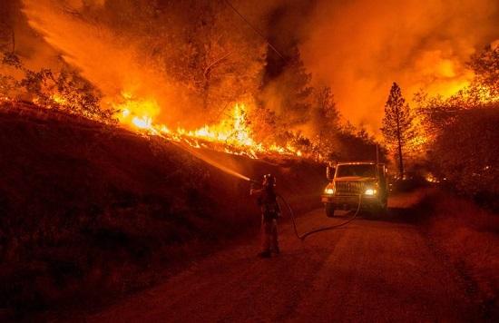 Wildfire San Andreas CA