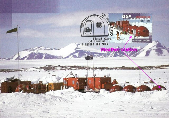Temporary Antarctic field-camp