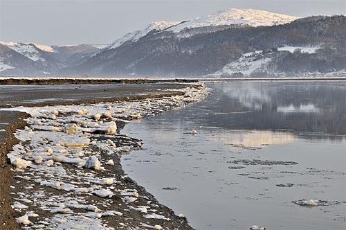 Ice-floes on the Dyfi Estuary, December 2010