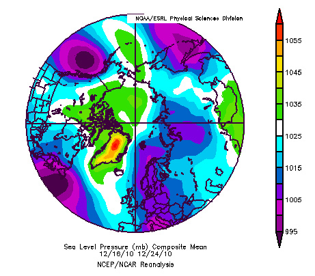 Extreme meridionality: December 2010