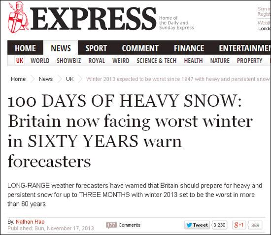 Daily Express Nov 17th 2013
