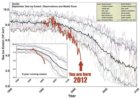Arctic sea-ice: models versus observations