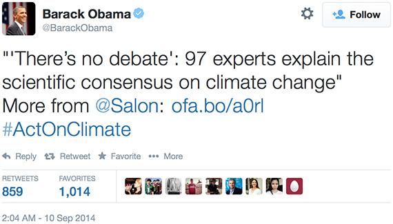 Barak Obama's Tweet re the TCP