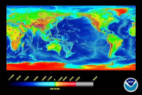 Ocean depths - NOAA