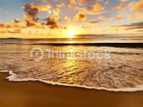 Photo of sea shore at dusk