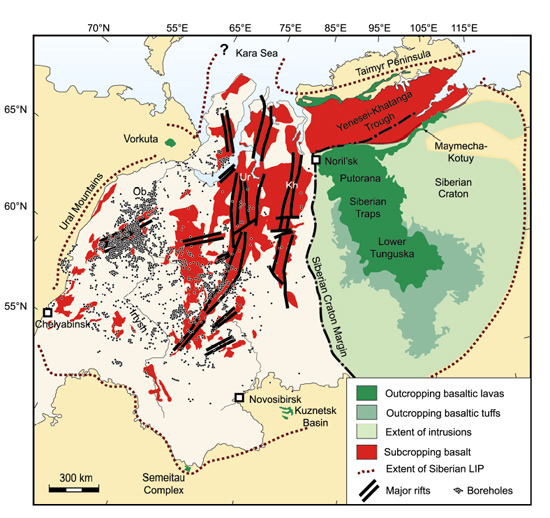 Siberian Traps geology